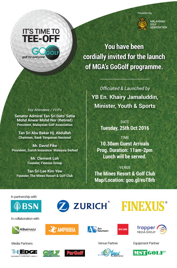 Albatrozz Launch of MGA's GoGolf Programme.